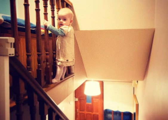 Dad Photoshops Daughter In Dangerous Situations to Scare Grandma