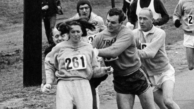 1st woman to officially run Boston Marathon does it again 50 years later
