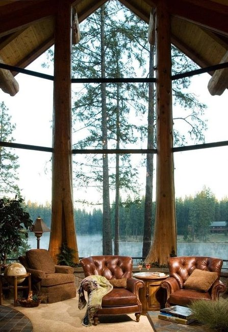 Cabin With the Best Windows You'll Ever See