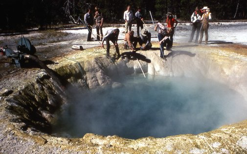 The Embarrassing History of Crap Thrown Into Yellowstone's Geysers