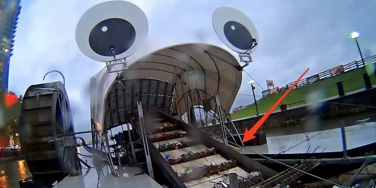 Mr. Trash water wheel removes rubbish from Baltimore river