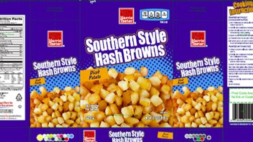 Hash brown Recalled for Golf Ball Contamination