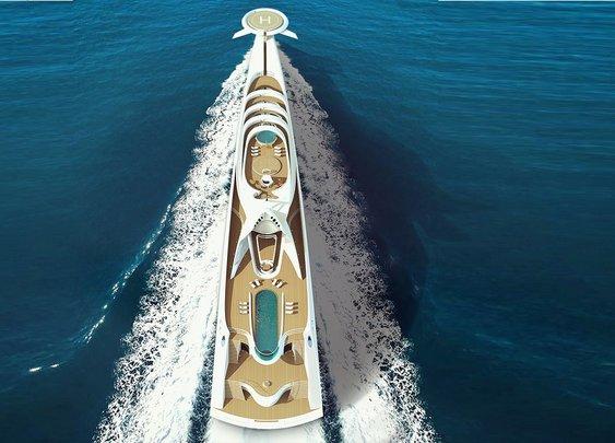 Futuristic Superyacht 190-Meter L'Amage Luxury Concept - Bonjourlife