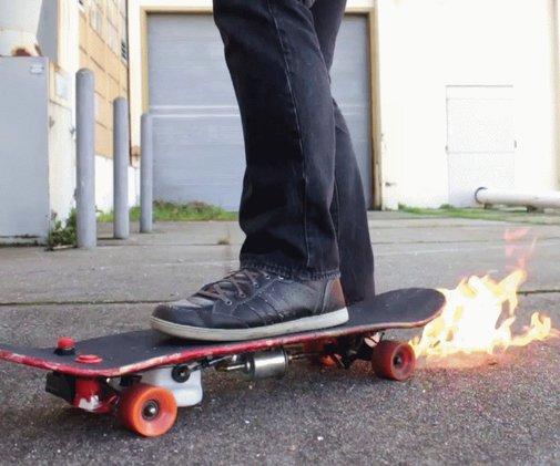 How to Make a DIY Flamethrower Skateboard