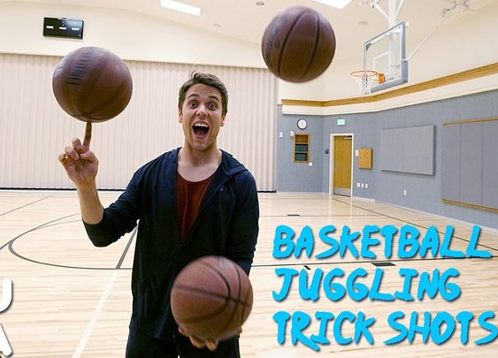Basketball Juggling Trick Shots!