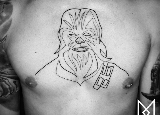 Beautiful Minimalistic Single Line Tattoos By Mo Ganji [GabeMAX]