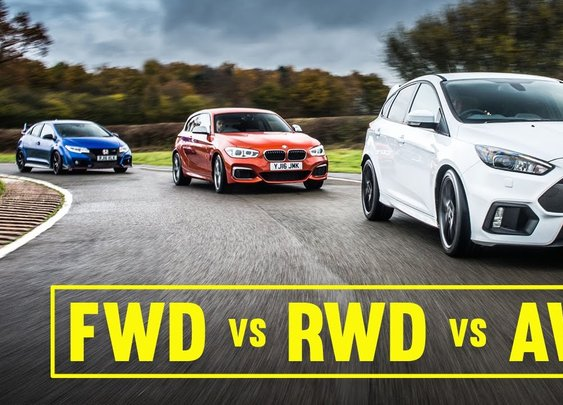 AWD Vs FWD Vs RWD: Focus RS, Civic Type R, M140i Track Battle [Car Throttle] [GabeTURBO]