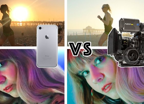 Comparing An iPhone 7 Camera To A $100,000 Hollywood-Grade Camera [GabeMODE]