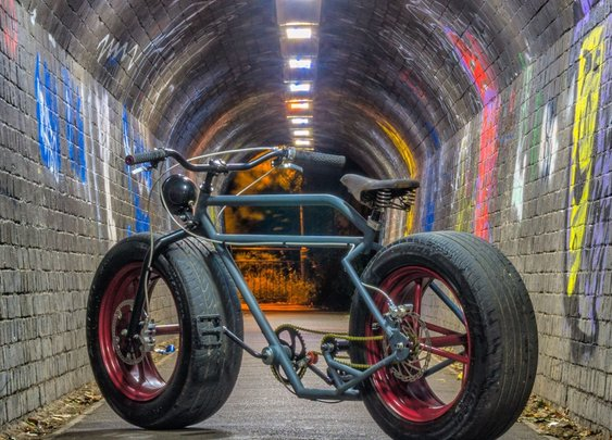 DIY Car Wheel Bicycle Project