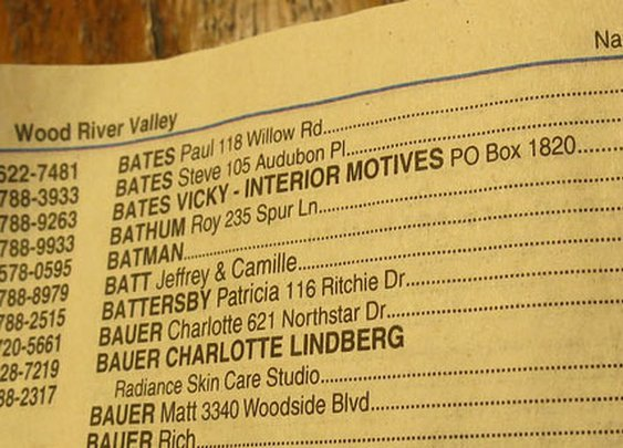 How Adam West played a prank using his local phone book