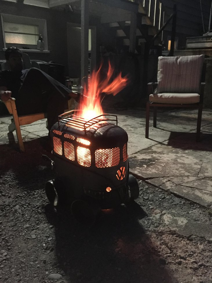 Transforming a Propane Tank into a VW Bus Inspired Fire Pit