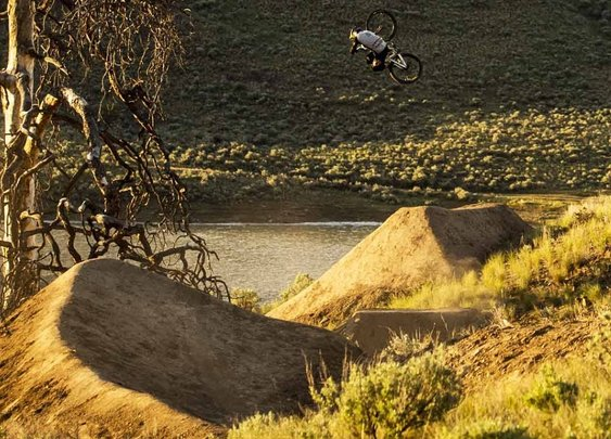 Brandon Semenuk Attacks Slopestyle MTB Trail  | Raw 100