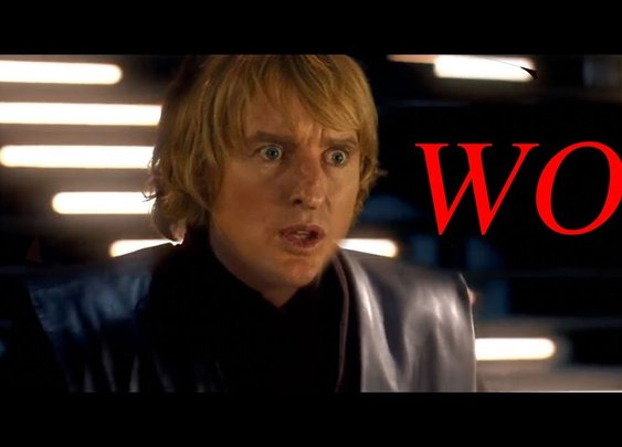 Star Wars but the Lightsabers Sound like Owen Wilson saying Wow