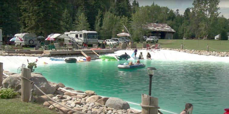 This Man Built a Gigantic Backyard Swimming Pool