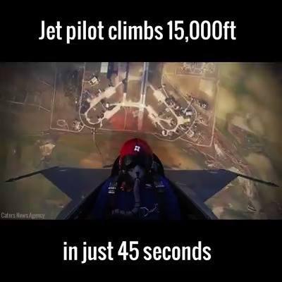 Jet Pilot Climbs 15,000 feet in 45 seconds.