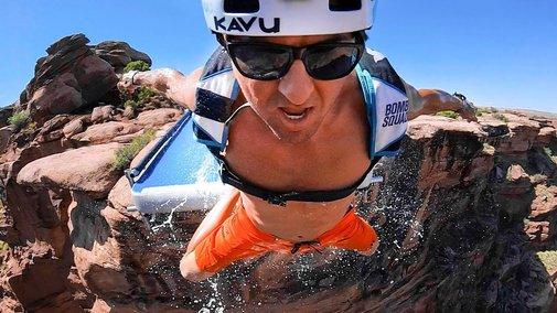 GoPro: Waterslide BASE Jump - YouTube