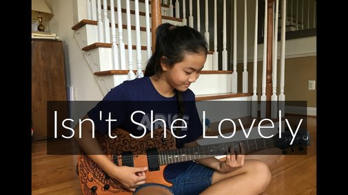 12-Year Old Girl Performs Finger-style Cover of Isn't She Lovely
