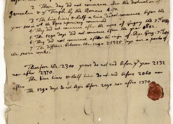 In 1704, Isaac Newton Predicts the World Will End in 2060