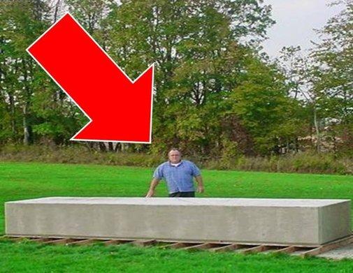 Man Moves 20-Ton Blocks by Hand!