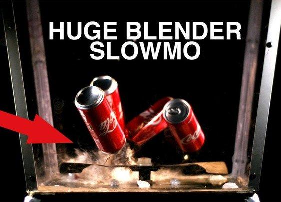 Man Turns Lawnmower Into Giant Blender
