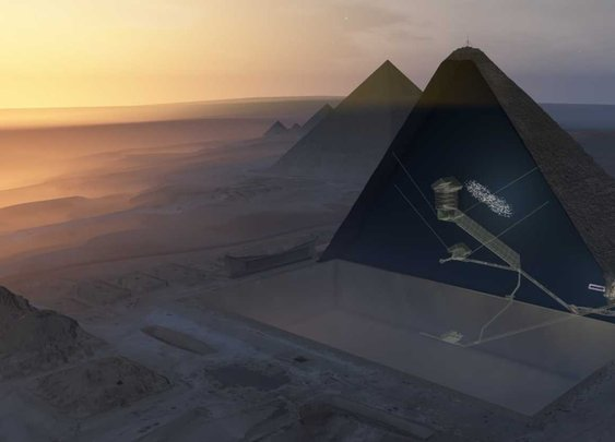 Cosmic rays reveal mysterious void in Egypt's Great Pyramid