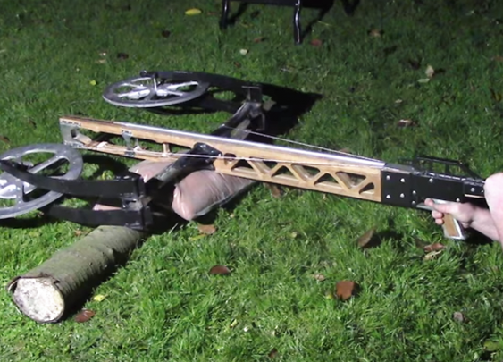 Junkyard Crossbow Aims to be a Car Killer | Hackaday