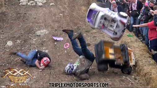 Spectacular Downhill Barbie Jeep Racing Crashes