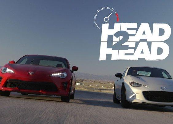 2017 Mazda MX-5 Miata RF Vs. 2017 Toyota 86 [Head 2 Head - Episode 89]