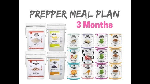 The Ultimate 3 Month Long Term Food Storage Plan - YouTube