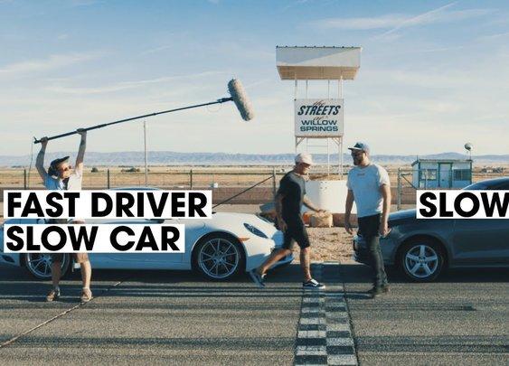 Fast Driver Vs. Slow Driver: Porsche 911 Vs. Volkswagen Jetta [Donut Media]
