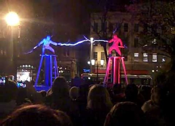 Two men + two Tesla coils + special suits = ELECTRICITY FIGHT! - YouTube