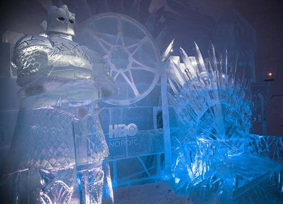 A new Game of Thrones Ice Hotel just opened in Lapland, Finland.