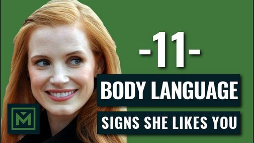 11 Body Language Signals She's Attracted To You - HIDDEN Signs She Likes You - YouTube