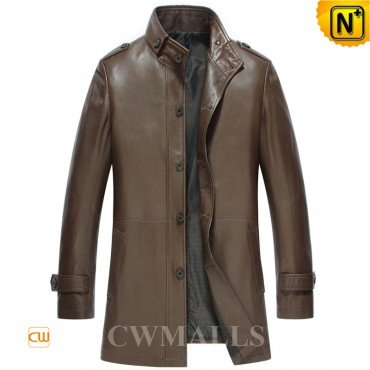 0716d481bd0 CWMALLS® London Mens Leather Trench Coats CW816023  Patented Product ...