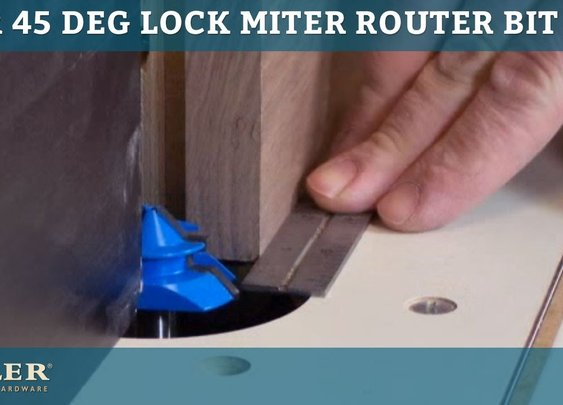 Rockler 45-degree Lock Miter Router Bit