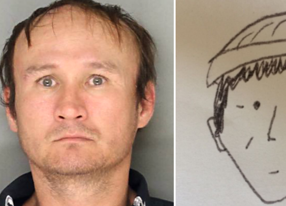 Amateur sketch from witness helps police identify theft suspect