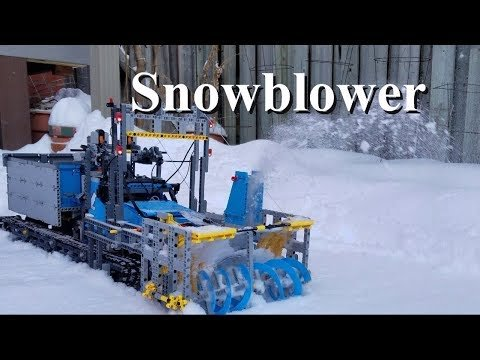 LEGO Snowblower Made From All Terrain Tow Truck