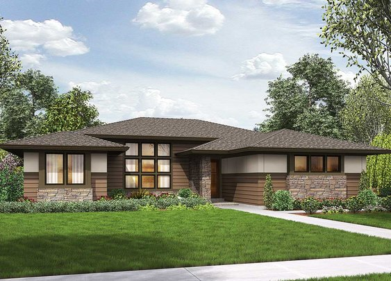 3 Bed Modern Prairie Ranch House Plan - 69603AM | Architectural Designs - House Plans