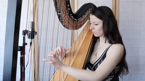 'Africa' by Toto but it's arranged for solo harp - Classic FM