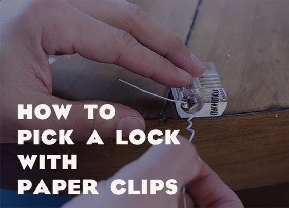 How to Pick a Lock With a Paper Clip