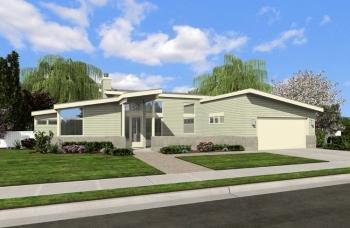 Contemporary Plan: 1,508 Square Feet, 2 Bedrooms, 2 Bathrooms - 2559-00004