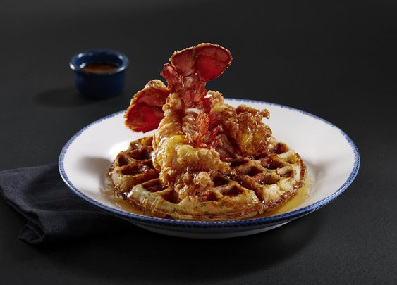 We Tried Red Lobster's Fried Lobster and Cheddar Bay Biscuit Waffles, and Wow | Food & Wine