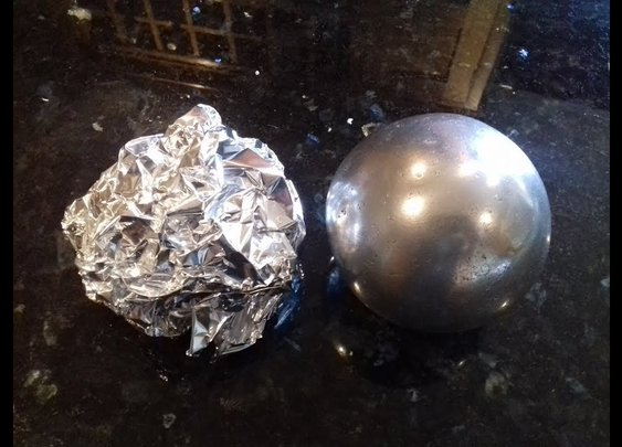 DIY Polished Aluminium Foil Ball (sanding sanding + more sanding )