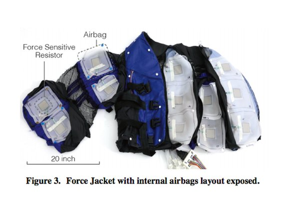 Disney made a jacket to simulate physical experiences, like a snake slithering across your body