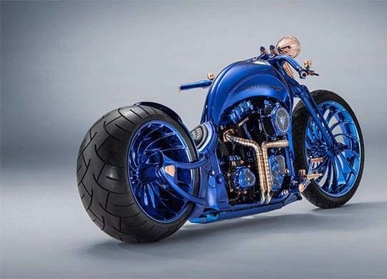This Bucherer Blue Edition Harley-Davidson Is the Most Expensive Bike Ever