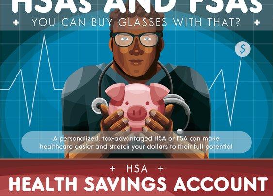 A Guide to HSA and FSA Infographic   FramesDirect.com