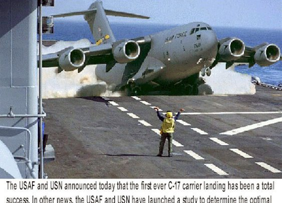 C-17 on Carrier - NATIONAL MUSEUM OF THE USAF