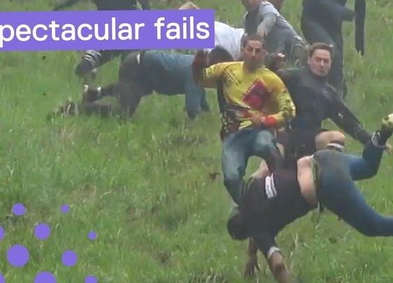Gloucestershire Cheese Rolling - Worst Falls 2018
