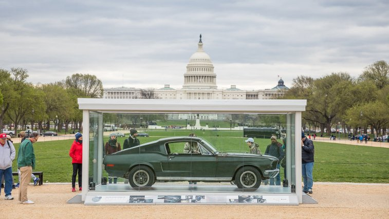 Bullitt Mustang was displayed on the Washington Mall