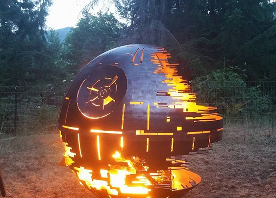 Steel Star Wars Death Star Fire Pit